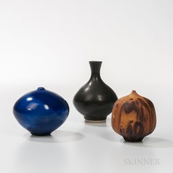 Rose Cabat Feelie Vase and Two Other Studio Pottery Vessels