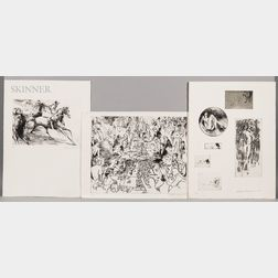 LeRoy Neiman (American, 1921-2012)      Seven Etchings from the Portfolio Eaux-Fortes '80