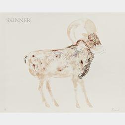 Elisabeth Frink (British, 1930-1993)      Mouflon