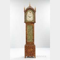 Paint-decorated Pine Wooden Works Tall Case Clock