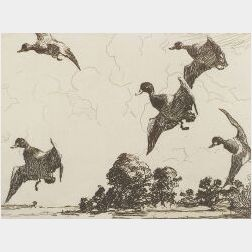 Frank Weston Benson  (American, 1862-1951)  Adam E.M. Paff's Etching and Drypoints by Frank W. Benson