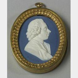 Wedgwood and Bentley Dark Blue Jasper Dip Portrait Medallion of Joseph Priestley
