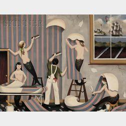 Ralph Eugene Cahoon, Jr. (Cotuit, Massachusetts, 1910-1982)      Paper Hanging