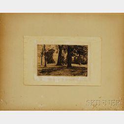 James Abbott McNeill Whistler (American, 1834-1903)      Greenwich Park