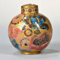 Royal Crown Derby Hand-painted Porcelain Potpourri