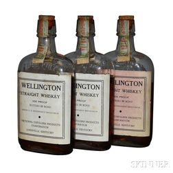 Wellington Straight Whiskey 9 Years Old 1917, 3 pint bottles