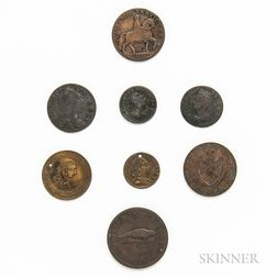 Eight British Coins and Tokens