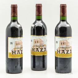 Condado de Haza 1996, 3 bottles