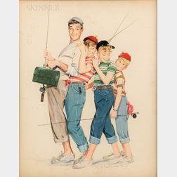 J. Frederick Smith (American, 1917-2006)      Gone Fishing