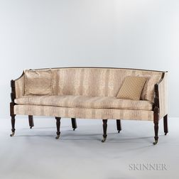 Federal Carved Mahogany Sofa