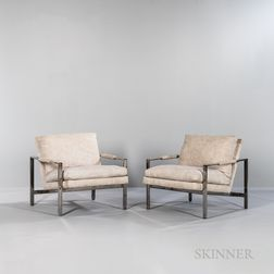 Two Milo Baughman (1923-2003) for Thayer Coggin Armchairs