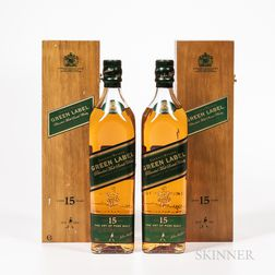 Johnnie Walker Green Label 15 Years Old, 2 750ml bottles (owc) Spirits cannot be shipped. Please see http://bit.ly/sk-spirits for mo...