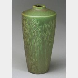 Rookwood Pottery Matte Green Decorated Vase