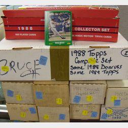 Twenty-two Boxed Sets of 1988 Baseball Cards