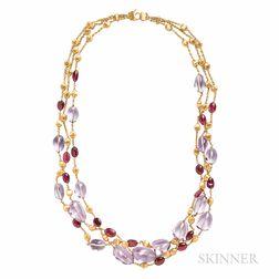 Marco Bicego 18kt Gold Gem-set Necklace
