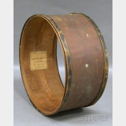 John F. Stratton Partial-ebonized Wooden Marching Drum