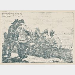 Eugène Louis Boudin (French, 1824-1898)      Mathurins (Jack Tars)