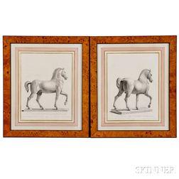 After Gianantonio Faldoni (Italian, 1690-1770) and Giovanni Cattini (Italian, 1715-1804), Four Framed Engravings: Sopra la Porto Maggio