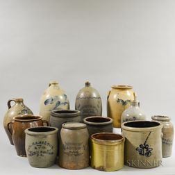 Thirteen Stoneware Vessels
