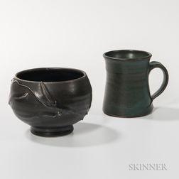 David Shaner (1934-2002) Studio Pottery Tea Bowl and Mug