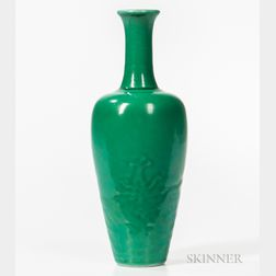 Green-glazed Amphora Vase