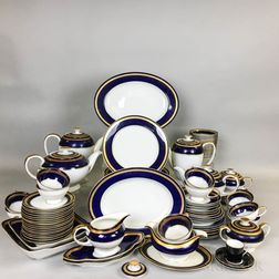 Ninety-six Pieces of Rosenthal Cobalt and Gilt Porcelain Tableware.     Estimate $200-250
