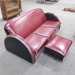 Donald Deskey Sofa and Footstool