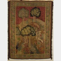 Arts and Crafts-style Continental Tapestry Panel