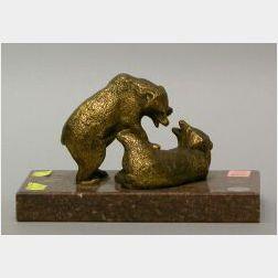 Gilt Bronze Bears