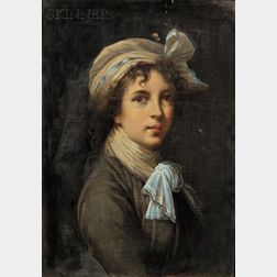 Charles Bianchini (French, 1860-1905)      Copy of a Self Portrait by Elisabeth Louise Vigée Le Brun (French, 1755-1842)
