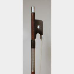 French Silver Mounted Viola Bow, Victor Fetique