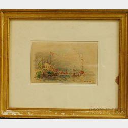 Reynolds Beal (American, 1867-1951)      Yacht Club