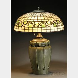 Grueby and Bigelow & Kennard Table Lamp
