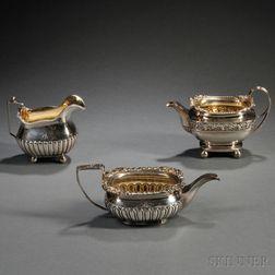 Three George III Sterling Silver Creamers