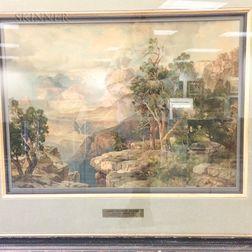 After Thomas Moran (American, 1837-1926)      Grand Canyon of Arizona on the Santa Fe