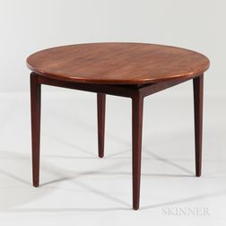Cumberland Round Walnut Side Table