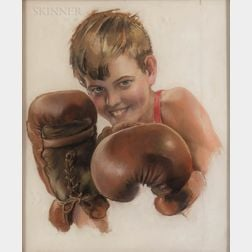 Rolf Armstrong (American, 1890-1960)      The Young Boxer