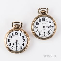 "Two Illinois Watch Co. ""Sixty Hour Bunn Special"" Watches"