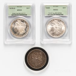 Three Morgan Dollars