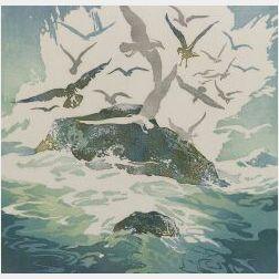 Lot of Two Color Prints:  Joseph Butero (American, 1905-1963), The Matador