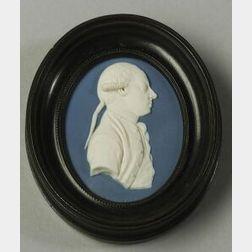 Wedgwood and Bentley Jasper Portrait Medallion of Thomas Pennant