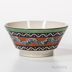 Large Don Carpentier Slip-decorated Bowl