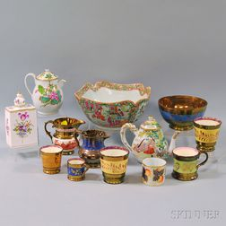 Thirteen British and Asian Ceramic Items