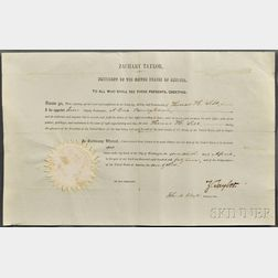 Taylor, Zachary (1784-1850) Document Signed, 17 April 1849.