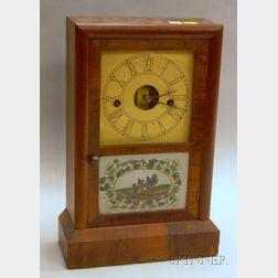 Seth Thomas Rosewood and Eglomise Shelf Clock