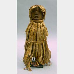 Northwest Area Salish Wood Doll on Stand