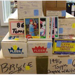 Boxed Sets of 1981, 1985, and 1986 Baseball Cards