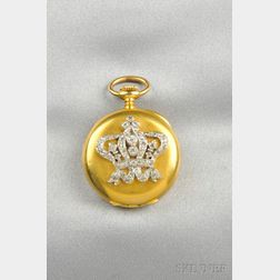 Antique 18kt Gold Open Face Pendant Watch, Tiffany & Co.