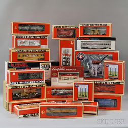 Set of Twenty-two Lionel O Gauge Model Trains and Accessories