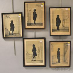 Four Framed E.B. & E.C. Kellogg Lithograph Portrait Silhouettes